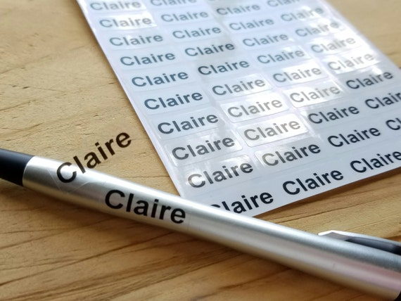 144 waterproof name stickers daycare labels small sized clear