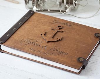 Wedding Guest Book, Nautical Wedding, Guest Book, Custom Guest Book, Wedding Guestbook, Wedding, Wood Guest Book,  Beach Wedding, Guestbook