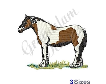 Gypsy Vanner Horse - Machine Embroidery Design