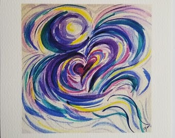 Watercolor art print - Psalm 91:11