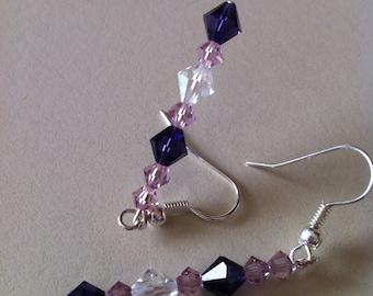 Shades of Purple Swarovski crystal Earrings