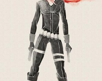 Marvel Black Widow Art Print