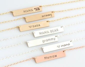 Mother's Day Gift Custom Necklace For Mom, Custom Initial Necklace, Mommy Necklace, Family Necklace, Personalized Necklace, Mom Gift, VM2
