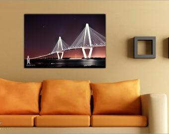 Urban Photography, Urban Landscape, Charleston Photos, Photography Prints, South Carolina Art, Wall Decor, City Landmarks, Bridge Pictures