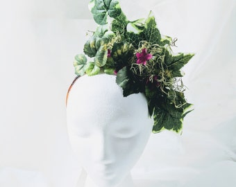Ivy Fascinator - one-of-a-kind Headpiece Forest Nymph