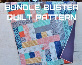 Bundle Buster Quilt Pattern - A Pattern Digital Download (PDF) by Quilting Jetgirl