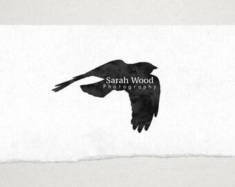 Premade Logo // Logo Design // Business Logo //  Photography Logo // Watercolor Logo // Bird in Flight Logo