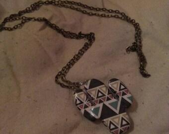 Cactus card necklace