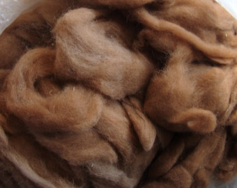 Light Brown Alpaca Roving