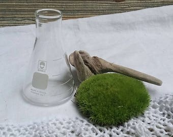 Vintage Conical Erlenmeyer Flask Bomex 125 ml Science Glass