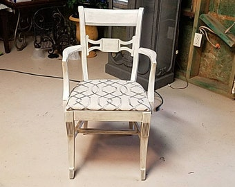 Chalk painted arm chair