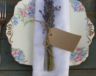 Dried Lavender Napkin Posy Set of 10