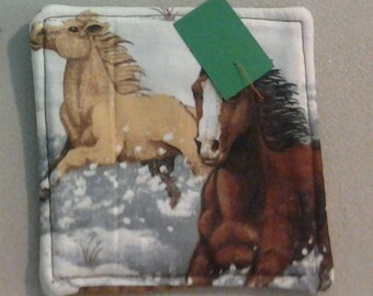 Coaster, Horses in the Snow 234488