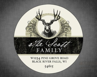 Vintage Deer Personalized Return Address Label