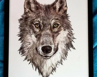 Limited edition 'Wolf' A4 print.