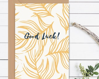 GOOD LUCK Card! New Job Card Office Leaving Card Good Luck Exams Good Luck Original Hand Lettered Best Of Luck Card For Her Gift For Her