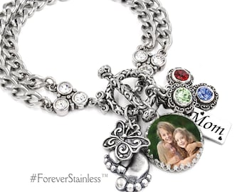 Personalized Mothers Day Jewelry - Mother's Day Gift - Gift for Mom - Mom Birthday Gift  - Mom Jewelry - Gift for Wife - Mum Bracelet