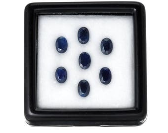 10.0 Carats 6x4mm Natural Sapphire Lot. Blue Color And Oval Cut.