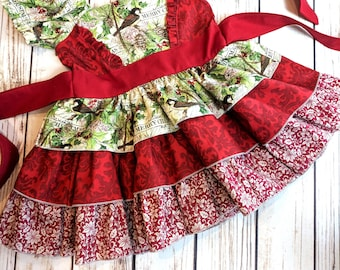 Girls Christmas dress, Christmas dresses for girls, Christmas dress, Christmas dress ruffles, Christmas party dress, Sizes 12-18 months