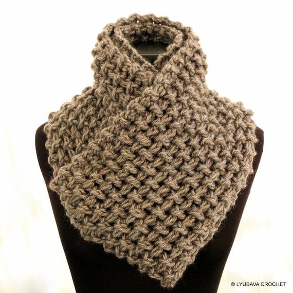 Crochet Scarf Pattern Infinity Scarf Chunky Scarf Pattern Unisex