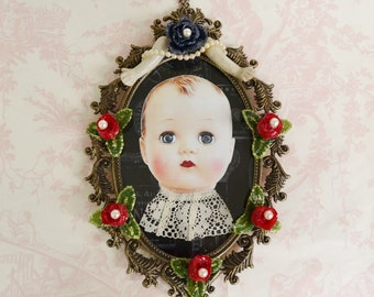 Hello Dolly Wall Hanging, Vintage and Upcycled