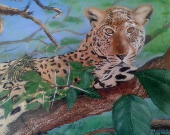 Cheetah wild life painting