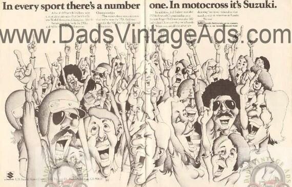 1973 Suzuki Number 1 #1 Vintage 2-Page Ad #E73AA12