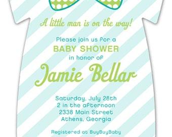 Pattern Cutie Onesie Baby Shower Invitation **Sold in Sets of 10