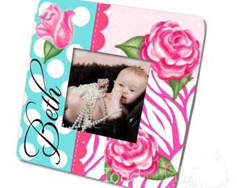 Shabby Rose Girls Photo PICTURE FRAME for Kids Bedroom Baby Nursery PF0029