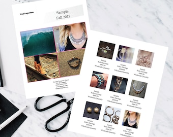Simple Wholesale Product Catalog, Indesign Template, Indesign Linesheet, Simple Linesheet, Simple Catalog, Simple Catalog Template