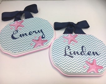 Twin Room Name Plaques