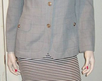 Vintage 80s Women's GLAMER Highend Fashion Blazer Jacket Made in ITALY US Sz 8
