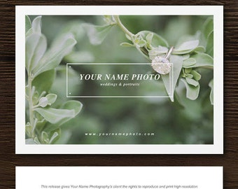 SALE!! Print Release Template for Photographers & Creatives - Photography Branding and Marketing Forms