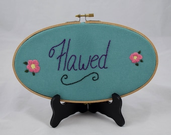 Flawed Hand-Embroidery