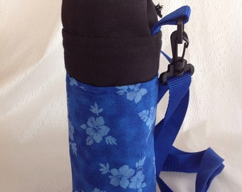 Insulated tote for 16 - 25 oz. (half liter to 750ml) containers tropical