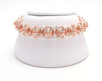 Helm Bracelet in Sterling Silver and Copper