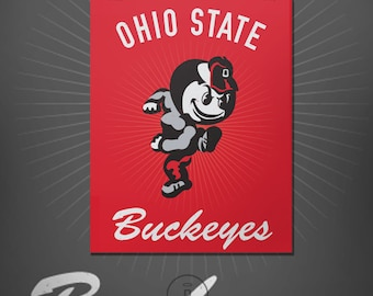 Ohio State Buckeyes Brutus Graphic Print - The Ohio State University Brutus Logo Poster