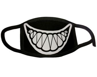Smiley Teeth sharp teeth Mouth Mask respirator for sports, hygene etc