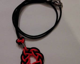 """Necklace braided Celtic """"Paracord type 1"""""""