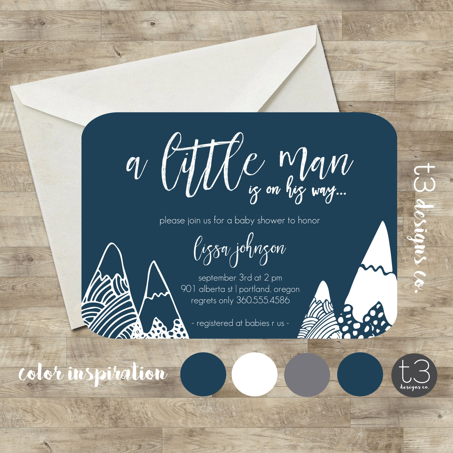 Wonder Hills Little Man Baby Shower Invitation, baby boy shower ...