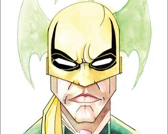 "Iron Fist Print by Kevin L. Kuder - 8.5""x11"""