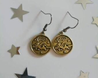 Zodiac Sign Virgo Earrings