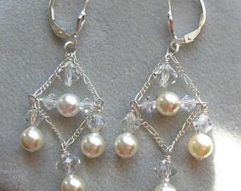 Pearl and Crystal Jubilee Earrings