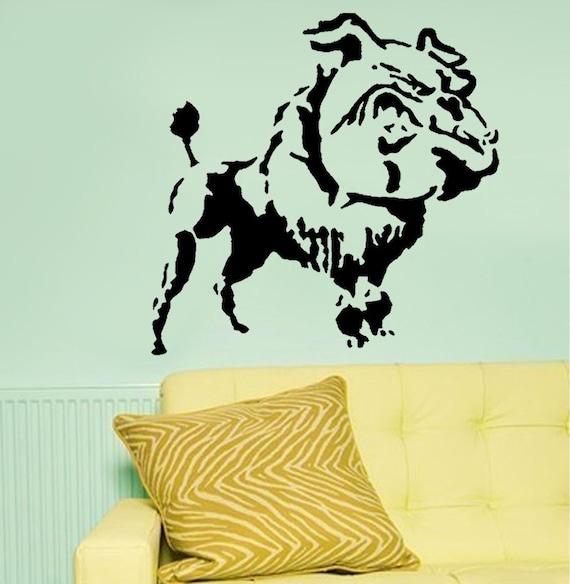 Banksy Bulldog poodle stencil, banksy reusbale stencil for home ...