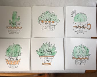 Punny Cacti Set