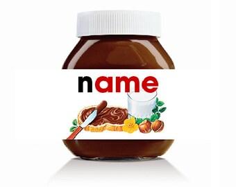 Personalised Original Theme Label For Nutella Jar 750gr & 400gr