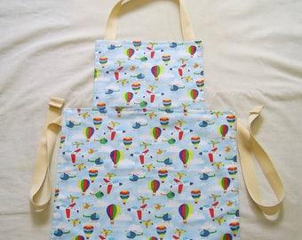 Children's Apron, Craft Apron, Art Apron, Baking Apron, Transport Fabric, Kids Messy Play Apron, Childs Apron, Full Apron, Reversible Apron