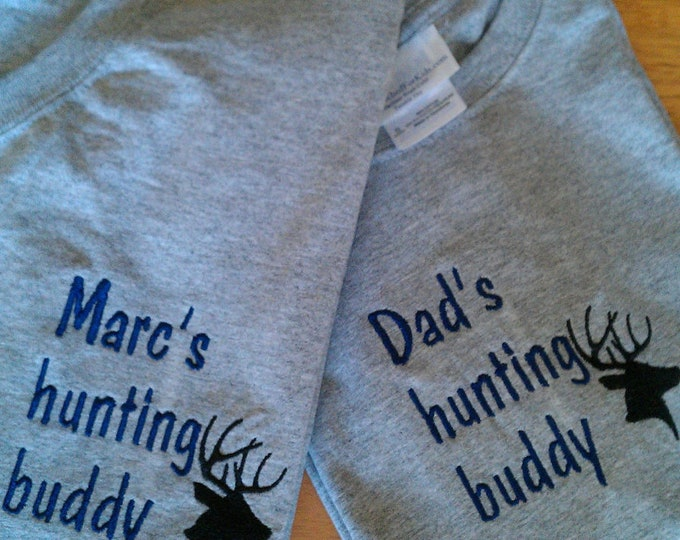 Father's Day Gift for Hunter, Hunting Family Gift, Custom Hunting Personalized Father and Son Hunting Buddy Shirts Fathers Day