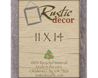 "11x14-1.5"" wide Rustic Barn Wood Wood Standard Wall Frame"