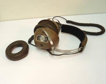 vintage stereo headphones large,dj headphones,koss k-6 studio music equipment,earphones